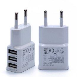 Venta al por mayor de Universal 2A 3 puertos USB EU Cargador de pared Adaptador 3USB para Samsung para iPhone para HTC