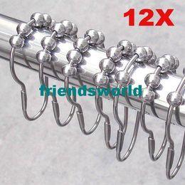 $enCountryForm.capitalKeyWord Canada - Polished Satin Nickel 5 Rollerball Shower Curtain Rings Curtain Hooks 7x4cm DHL FEDEX SF Free shipping