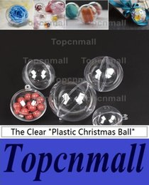 Discount christmas ornament ball - 200pcs 5cm 8cm 10cm beauty transparent hanging christmas ball baubles clear plastic christmas ornaments fast shipping