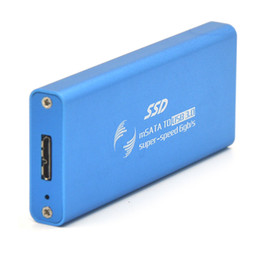Discount hard disk drive converter - Wholesale- Mini External NGFF M.2 to USB 3.0 SSD Case Solid State Drive Hard Disk Box Converter Case Drives NGFF Enclosu