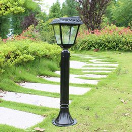 Discount Outdoor Light Pole Lamp Outdoor Waterproof Aluminum Solar Lawn Lamp  Garden Lamp Pole Villa Road