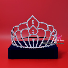 Pretty Hair For Australia - beauty Pageant Rhinestone Crystal Crown Tiara for Bridal Princess Wedding Hair Accessories imitation jewelry Party Prom pretty Show Mo009