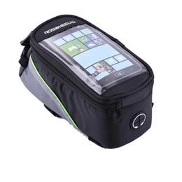 $enCountryForm.capitalKeyWord Canada - Cycling Bike Bicycle Frame Pannier Bag Front Top Tube Bag Handlebar Saddle Bag Cell Phone Case Phone Holder GPS Bag with Headphone Jack