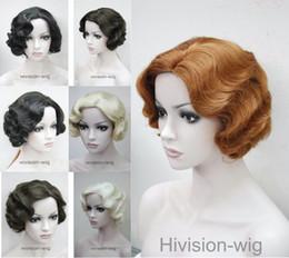 $enCountryForm.capitalKeyWord NZ - free shipping beautiful charming hot 7 colors Short Finger Wave Women Ladies Daily Hair wig Hivision #E-47