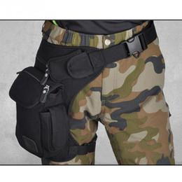 Military Multi Pack Australia - Luggage Bags Waist Packs 2018 Men Canvas Drop Leg Bag Waist Fanny Pack Belt Hip Bum Military travel Multi-purpose Messenger Shoulder Bags
