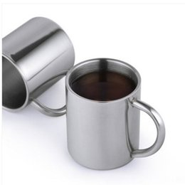 Chinese  Double Layer Stainless Steel Coffee Cups Kids Anti Scald Belt Handle Portable Mug Eco Friendly Non Toxic Tea Drinking Cup 8th J R manufacturers