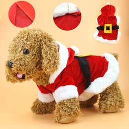 1pc christmas dog clothes santa costume pet dog christmas clothes chihuahua coat clothing cute puppy outfit for dog - Large Dog Christmas Outfits
