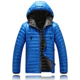 Best Down Parkas Canada - Best selling Classic Brand Men Winter Outdoor white Duck Down Jacket man casual hooded Down Coat outerwear mens warm jackets Parkas 3 style