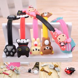 Barato Suporte De Cabo De Animal-Universal Cable Cord Organizer Holder Protector Thread, Cute Animal Cartoon Fone de ouvido Headphone Line Winder para Apple Iphone X 8 7 6s plus 5SE