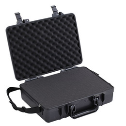 "Tablet 14 NZ - 10""~ 14""Laptop Handle Case Carrying For Ipad Mini Dustproof Waterproof Safety Equipment Instrument Box Moistureproof Locking Camera Laptop"