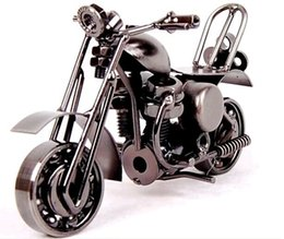 wrought iron models 2019 - M36 black Handmade Wrought Iron Metal Motorcycle Model DIY Home Decoration Best Gift hot sale 2016 discount wrought iron