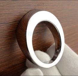Discount modern cabinet pull handle - 4pcs Modern Round Chrome Furniture Hardware Handles Kitchen Cabinets Pull Door Knobs Drawer Wardrobe Cupboard Dresser Pu