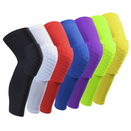volleyball elbow pads UK - Honeycomb Sports Safety Tapes volleyball Basketball Kneepad Compression Socks Knee Wraps Brace Protection Knee Pad