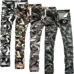 Jogging Tactique Pas Cher-Camo Cargo Pants Hommes Mode Casual Straight Pants Male Joggers Camouflage Sweatpants Outdoors Tactical Sport Pantalon Plus Size