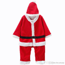 58f37dc971c Cute Zebra Costumes Australia - Fashion Christmas Romper+Hat Baby Novelty  Bodysuit Autumn Winter Santa