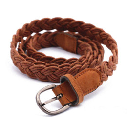 $enCountryForm.capitalKeyWord Canada - New Arrival! Women belt Handwork Braid Polyester Leather Belt Metal Buckle Female Lose Weight Waist Belt QW221 Free Shipping