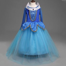princess aurora dress NZ - Autumn Spring Girl Dress 2016 Princess Aurora Dresses Sleeping Beauty Princess costume for girls party vestidos christmas gift