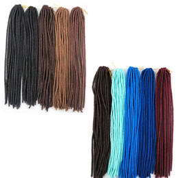 hair braiding styling UK - Kanekalon synthetic braiding hair Faux locs crochet braids twist 20inch 100g synthetic hair extensions Fashion style