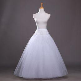 Venta al por mayor de Puffy A Line 6 capas de boda Boda No Hoop Enagua Mujer Tul Crinolina Enagua para vestidos de novia Underskirt Hoepelrok 2018