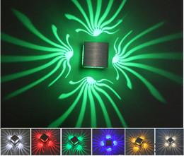 100% Алюминий Оригинальный Светодиодный Настенный Светильник Для Украшения Дома Освещения Новый Цвет RGB С Современными Модными Лампами Стиля В КТВ БАР на Распродаже
