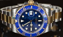 $enCountryForm.capitalKeyWord Canada - LUXURY WATCH Stainless Steel Bracelet 40mm 116613 BLUE CERAMIC GOLD STEEL UNWORN AUTHENTIC Stainless Steel Bracelet MAN WATCH Wristwatch