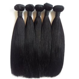 silky remy indian human hair Canada - Factory supply Brazilian virgin hair weft extensions 5pcs Indian Malaysian remy human hair weave Natural Color Unprocessed Silky Straight