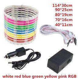 car sound music equalizer 2019 - 114*30cm DC12V Sound Sensitive Music Beat Activated Car Sticker Equalizer Glow LED Light Audio Voice Rhythm Lamp cheap c
