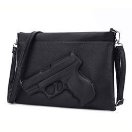 45065048b8d0 Wholesale-3D Print Gun Bag women bag Designer clutch purse famous brand women  messenger bags for ladies Crossbody Bag Envelope Handbags