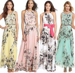 White floral maxi dress deep v