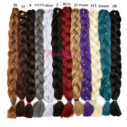 Xpression Synthétique Braiding Hair Wholesale Pas cher 82inch 165grams Simple Couleur Premium Ultra Brained Kanekalon Jumbo Braid Hair Extensions