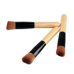 Wholesale Makeup Brushes Free Shipping UK - Makeup Brushes Make up Brushes Advanced Nylon Wool Ash Brush Handle Oblique Head Blush Free Shipping
