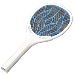 eco light led UK - Removable Battery Rechargeable Electric Swatter Pest Control Insect Bug Bat Wasp Zapper Fly Mosquito Killer With LED Lighting