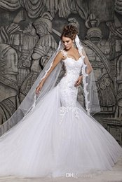 Wholesale sexy models tight dresses resale online – 2018 New Model Sheath Top Quality Sexy Sweetheart Neckline Tight Long Wedding Dress Tulle Mermaid Bridal Gown