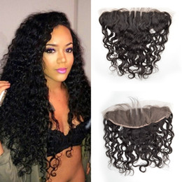 $enCountryForm.capitalKeyWord NZ - 13x4 Lace Frontal Closure,Water Wave Malaysian Frontal Unprocessed Lace Front Closure Cheap Lace Frontals With Bleached Knot G-EASY