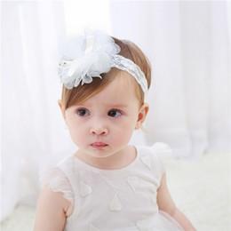 Cute Little Girl Hair Accessories Canada - Little Baby Headbands Bunny Ear Elastic Headband Children Hair Accessories Kids Cute Hairbands for Girls Nylon bow flowers Headwear