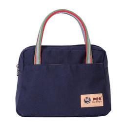 Handbags Candy Box UK - New Totes Bags Women Canvas Girls Schoolbag Waterproof Printing Candy Color Luggage Bag Small Fresh Handbag Ladies Lunch Box Girls