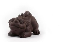 $enCountryForm.capitalKeyWord UK - factory outlet yixing handmade purple clay tea pets lucky brave troops Chinese tea accessories about 6cm*9cm t61