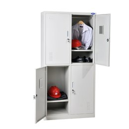custom 4 grids singledoor wardrobe tall steel locker metal cabinets iron cabinet with lock safety cabinet 2 layer grids