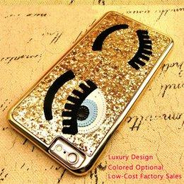 bling phone designs NZ - Bling For Iphone6 Fashion Shining Phone Covers Eyes Glitter Eyelashes Luxury Design Phone Shell Phone Case