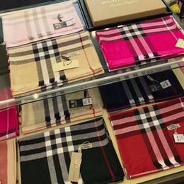 Purple Cotton Scarf NZ - zhu SHAWLS & MORE Check Women Wool Cotton Cashmere Silk Scarves Scarf Wrap Shawl Pashmina