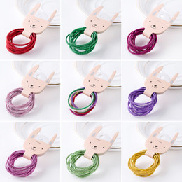 hair accessories brands Canada - New Brand Baby Basic High Elastic Hair Rubber Bands Korean Bling Ponytail Holder Hair Rope Kids Girls Women Hair Accessories