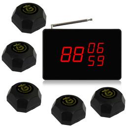 SINGCALL беспроводная система кухня Вызов 1 дисплей с 5 черными пуговицами