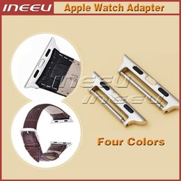 apple smart watch stainless steel band Canada - Stainless Steel Connector Adapter for Apple Watch 38mm High Quality Colorful Link Clasp Watch Band Buckle Adapter for Apple Watch 42mm