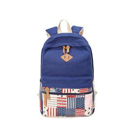 $enCountryForm.capitalKeyWord Canada - Best Selling Boys Girls Schoolbag Vintage Couple Traveling Backpack Canvas Laptop Fashion Flap Bag Blue Rose Red Black