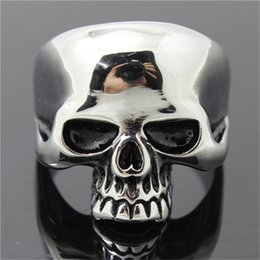Men Size 15 Rings Australia - 5pcs lot size 7-15 Polishing Ghost Slull Cool Ring 316L Stainless Steel Fashion Jewelry Men Boy Biker Persona Design Skull Ring