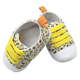 Toile Lacet Chaussures Enfant Pas Cher-Vente en gros - Tout-petits Unisex Kids Casual Lace-Up Sneaker Soft Soled Baby Crib Shoes 0-18M Cute First WalkersBaby Shoes