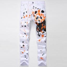 Panda Trousers Canada - Wholesale DHl free 3D Graphic painting Causal Jeans Slim Zibra Eagle Peacock Kungfu Panda Tatto Hiphop Streetwear Pants Trousers