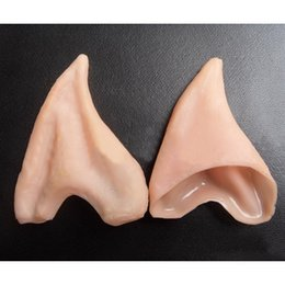 Barato Elfo Fantasia Hobbit-Atacado- Novo Design 1 par Elf Fairy Hobbit Vulcan Spock Alien Cosplay LARP Halloween Costume Ears Tips T1217 P50