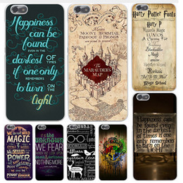 Iphone Harry Potter Canada - Harry Potter Case Marauders Hogwarts Map Words Fashion Hot Arrival Plastic Shockproof Hard PC Cover Shell For iPhone 8 7 Plus 6 6S SE 5 5S