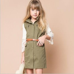 Barato Vestidos De Bebês Adolescentes-Autumn Junior Vest Dresses Teenager Fashion Cotton Waistcoat Dress 2016 Big Baby Girls Vestido de Natal sem mangas Babies Clothes